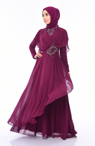 Habillé Hijab Plum 8008-05