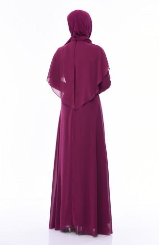 Zwetschge Hijab-Abendkleider 8008-05