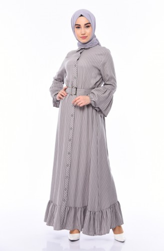 Gray İslamitische Jurk 81708-04