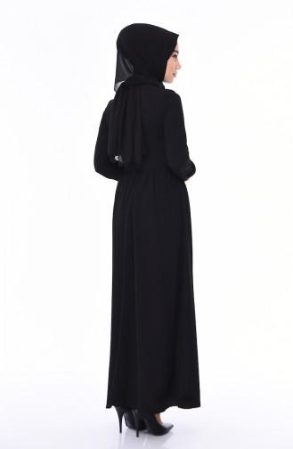 Schwarz Hijap Kleider 1193-01