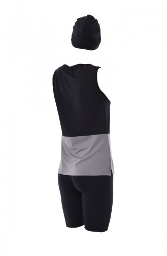 Maillot de Bain Hijab Noir 356-01