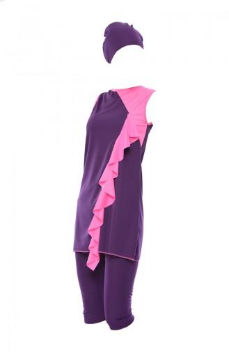 Maillot de Bain Hijab Rose 0344-03