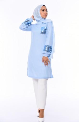 Tunique Bleu Bébé 15363-01