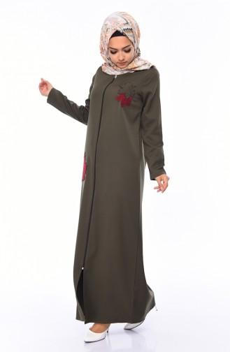 Khaki Abaya 99214-03