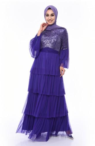 Purple İslamitische Avondjurk 1150-03