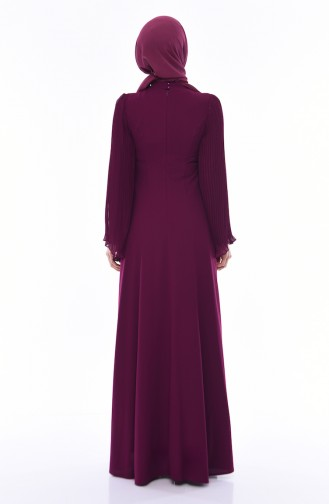 Damson Islamic Clothing Evening Dress 4541-04