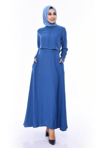 Robe Hijab Indigo 7058-03