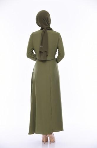 Khaki Dress 7058-05