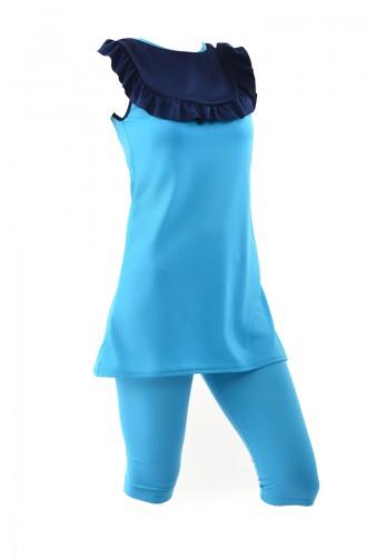 Blue Swimsuit Hijab 0340-03
