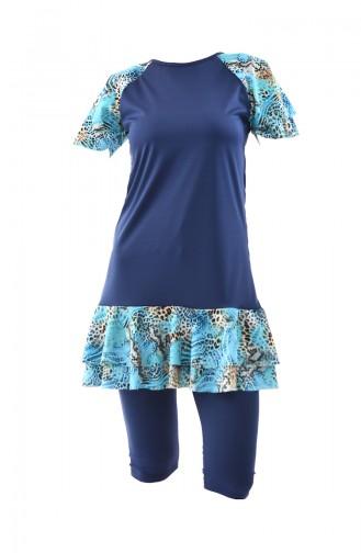 Blue Swimsuit Hijab 0341A-01