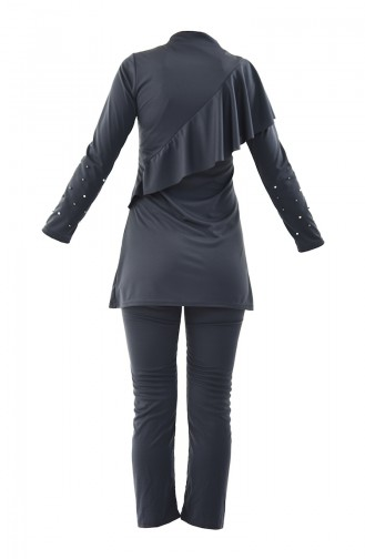 Light Black Swimsuit Hijab 0342-01