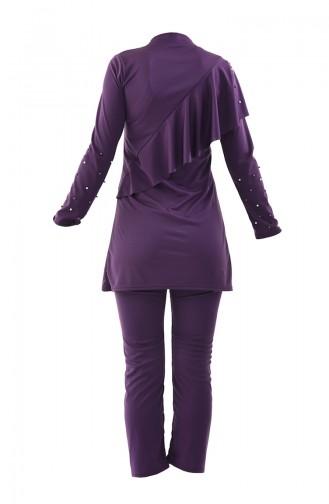 Purple Swimsuit Hijab 0342-02