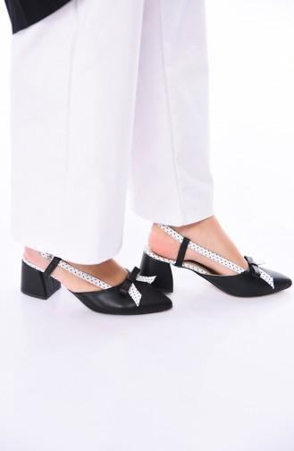 Black Heeled Shoes 210K-06
