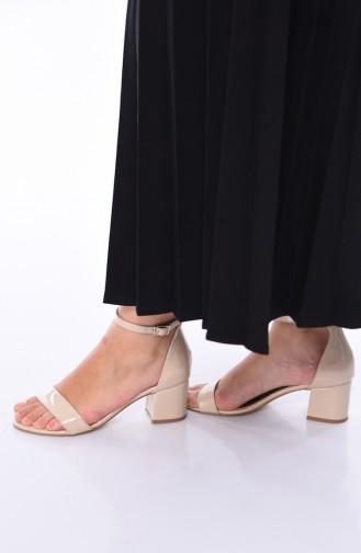 Skin color Heeled Shoes 601KTA-06