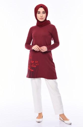 Claret red Tunic 3053-03