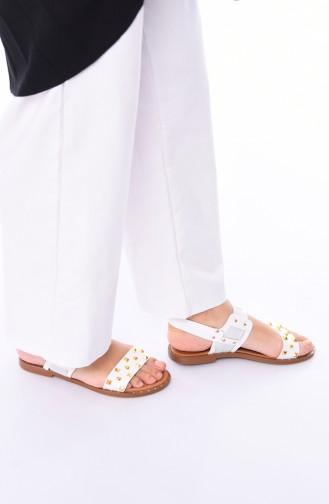 Sandales D`été Blanc 3808-03