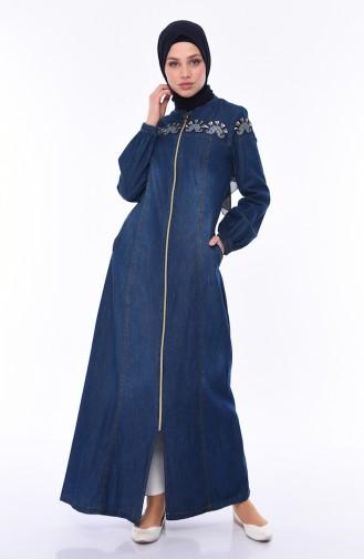 Navy Blue Abaya 5163-02