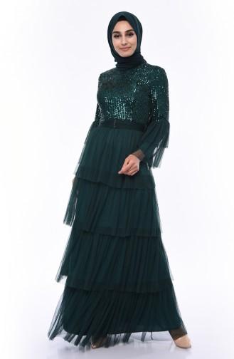 Emerald Islamic Clothing Evening Dress 1150-02