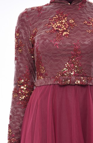 Damson Islamic Clothing Evening Dress 4524-04