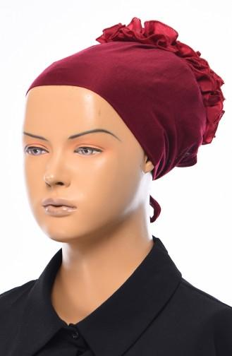 Gekräuselte Geknotete kombinierte Bonnet 1032-11 Puder Fuchsia 1032-11