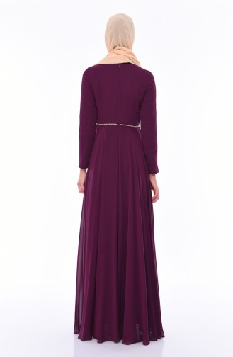 Purple Islamic Clothing Evening Dress 4532-01
