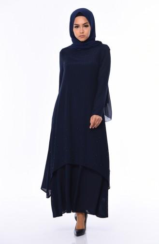 Navy Blue Dress 0505-01