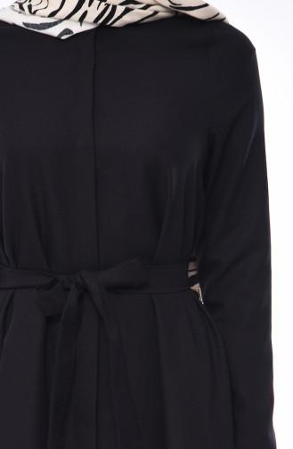 Kuşaklı Tunik Pantolon İkili Takım 0235-02 Siyah