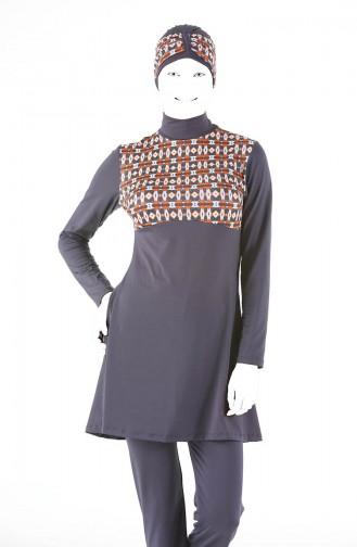 Hijab Badeanzug 1846-02 Anthrazit 1846-02