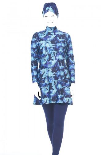 Navy Blue Swimsuit Hijab 1943-02