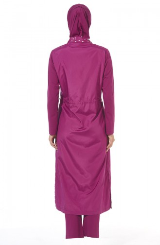 Maillot de Bain Hijab Pourpre 1977-02