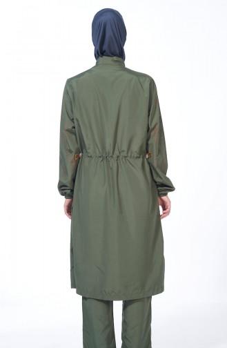 Maillot de Bain Hijab Khaki 1978-02