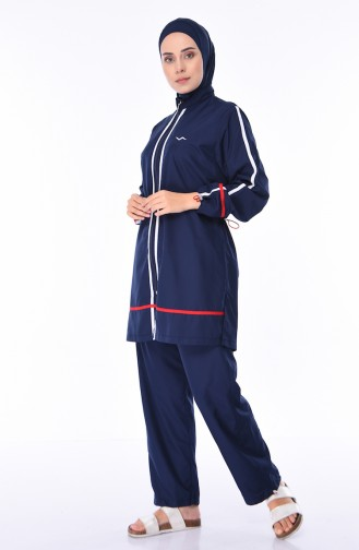 Hijab Badeanzug 1874-01 Dunkelblau 1874-01