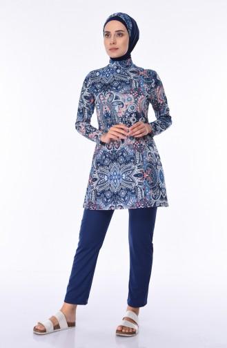Maillot de Bain Hijab Bleu Marine 1948-01