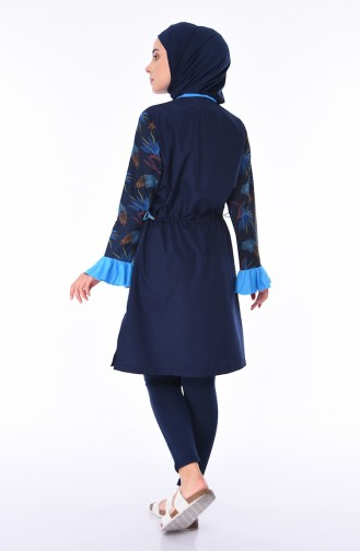 Navy Blue Swimsuit Hijab 270-02