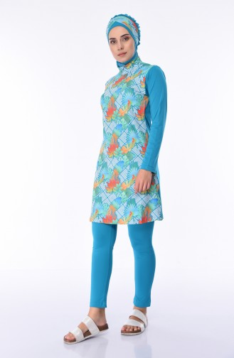 Maillot de Bain Hijab Vert 285-03