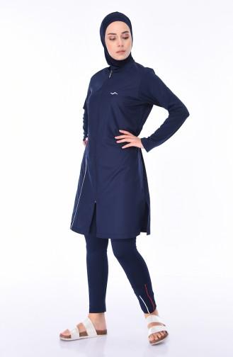Navy Blue Swimsuit Hijab 1975-02