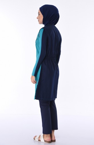 Turquoise Swimsuit Hijab 1880-02