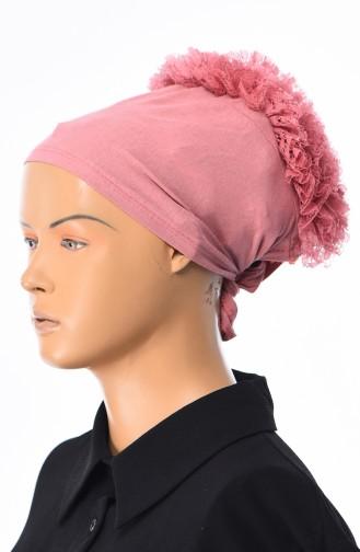 Spitzen Bonnet -14 Puder Rosa 14