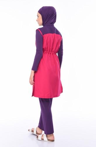 Fuchsia Swimsuit Hijab 1982-02