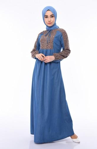 Robe Perlées Jean 4058-01 Bleu Jean 4058-01