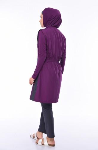 Hijab Badeanzug 1881-01 Lila 1881-01