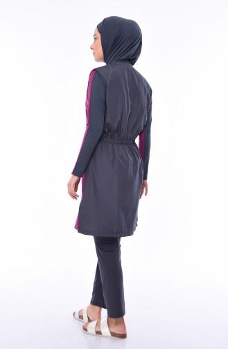Hijab Badeanzug 1880-01 Zwetschge 1880-01