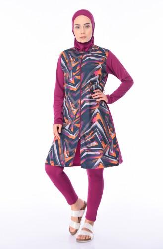 Damson Swimsuit Hijab 1962-02
