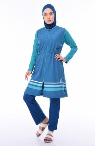 ملابس السباحة أزرق زيتي 1875-01