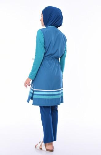 Oil Blue Swimsuit Hijab 1875-01
