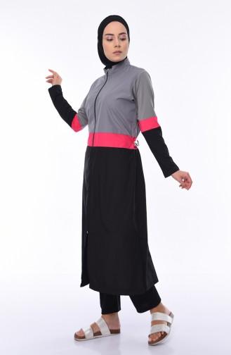 Maillot de Bain Hijab Gris 1976-02