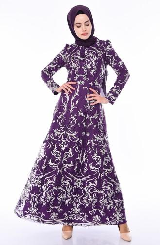 Habillé Hijab Pourpre 7238-04