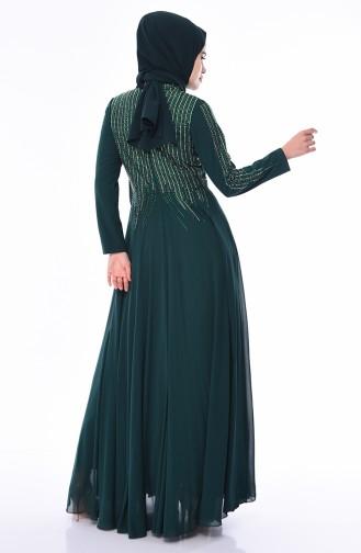 فساتين سهرة بتصميم اسلامي أخضر زمردي 2012-03