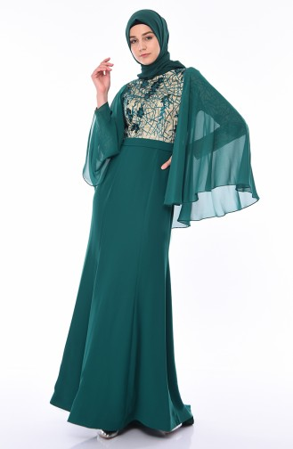 Emerald Islamic Clothing Evening Dress 4510-01