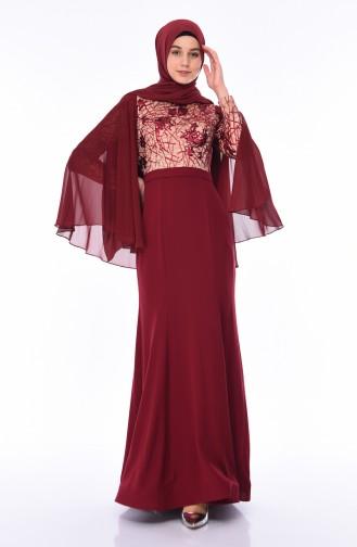 Habillé Hijab Bordeaux 4510-02